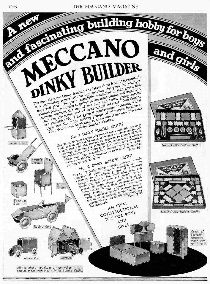 Dinky Builder December 1934 Meccano magazine