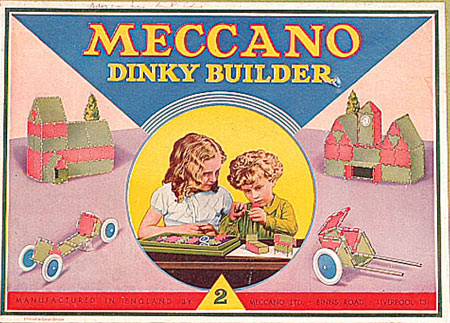 Dinky Builder 1934 box label