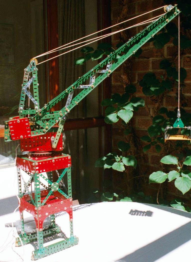 Meccano Model Page 12 Toplis Level Luffing Crane