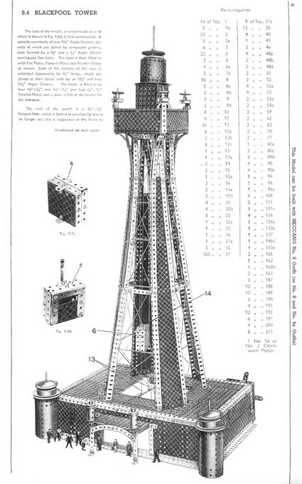 meccano blackpool tower model page 51